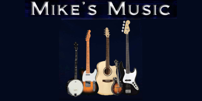 Cropped mikes music guitars