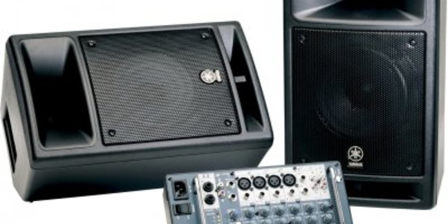 Cropped yamaha sound system stagepass 300 watt