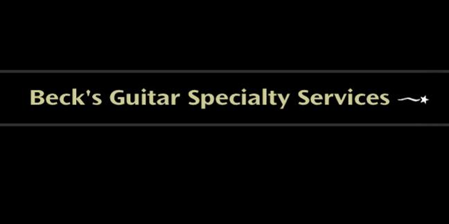Cropped becks guitar logo