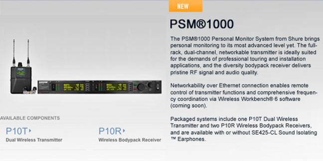 Cropped shure psm 1000