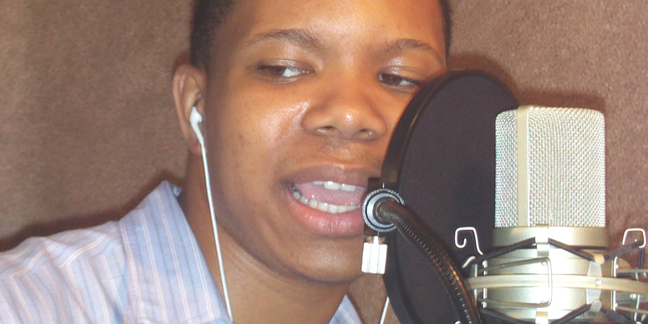 Cropped dj in studio