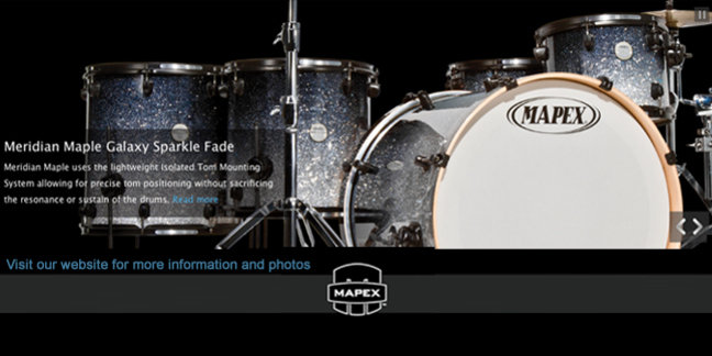 Cropped mapex meridian maple galaxy sparkle fade