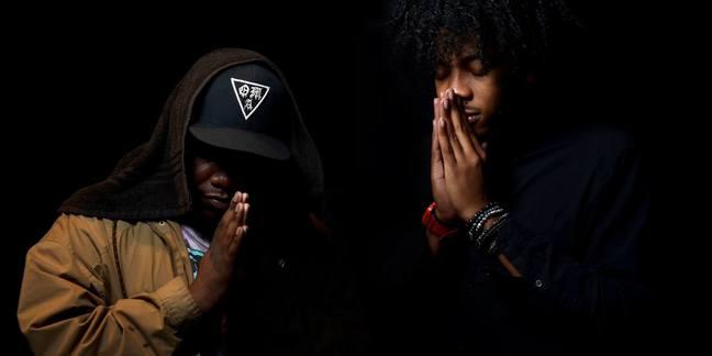 Cropped both prayer hands