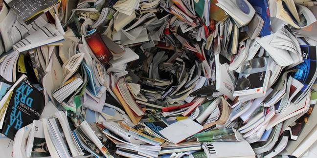 Cropped pile of covered books 159751